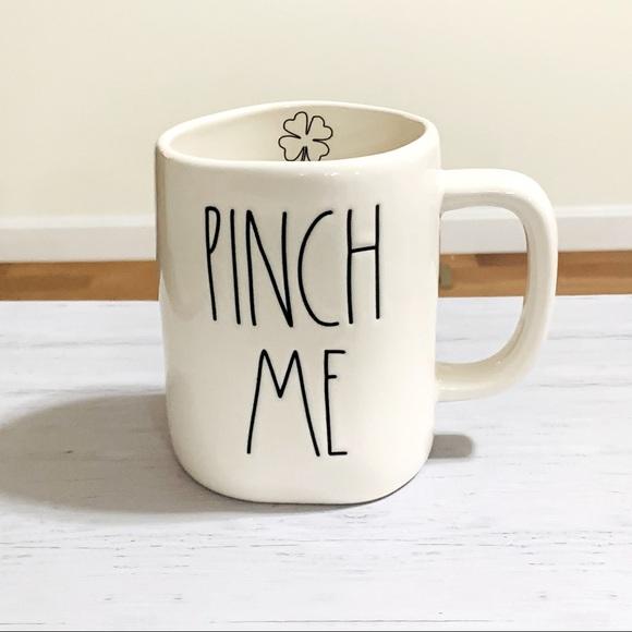 Rae Dunn PINCH ME shamrock mug